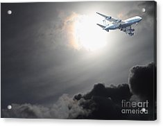 Flying The Friendly Skies Acrylic Print by Wingsdomain Art and Photography