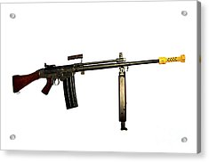 Fn Fal 7.62mm L2a1 Automatic Rifle Acrylic Print by Andrew Chittock