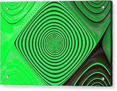 Focus On Green Acrylic Print by Carolyn Marshall