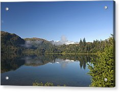 Fog Over Shrode Lake II Acrylic Print by Gloria & Richard Maschmeyer