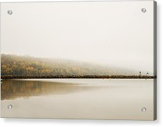 Acrylic Print featuring the photograph Foggy Autumn Morning by Joel Witmeyer