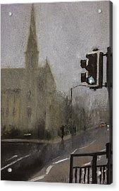 Foggy Herne Bay 1 Acrylic Print by Paul Mitchell