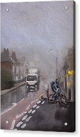 Foggy Herne Bay 2 Acrylic Print by Paul Mitchell
