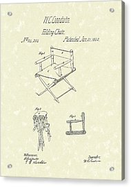 Folding Chair 1862 Patent Art  Acrylic Print by Prior Art Design