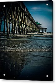 Folly Beach Pier Acrylic Print by Jessica Brawley