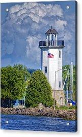 Fond Du Lac Lighthouse Acrylic Print by Joan Carroll