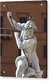 Fontana Del Nettuno. Neptune Fountain. Piazza Navona. Rome Acrylic Print by Bernard Jaubert