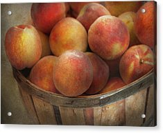 Food - Peaches - Just Peachy Acrylic Print by Mike Savad