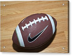 Football Acrylic Print by Malania Hammer