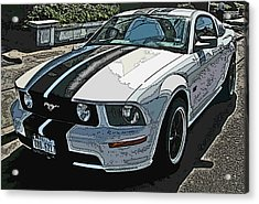 Ford Mustang Gt No. 2 Acrylic Print by Samuel Sheats