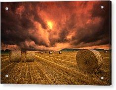 Foreboding Sky Acrylic Print by Mark Leader