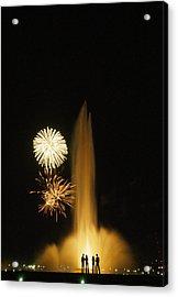 Fourth Of July Fireworks Acrylic Print by Lynn Johnson