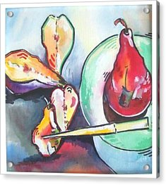 Fractured Apple Acrylic Print by Sue Prideaux