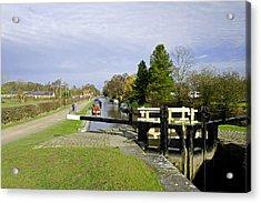 Fradley Middle Lock No. 18 Acrylic Print by Rod Johnson