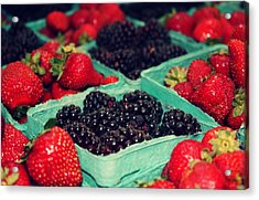 Framers Market Berries Acrylic Print by Cathie Tyler