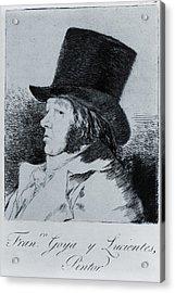 Francisco Goya 1746-1828, Self Portrait Acrylic Print by Everett