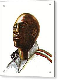 Franckie Fredericks Acrylic Print by Emmanuel Baliyanga