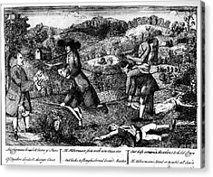 Franklin: Cartoon, 1764 Acrylic Print by Granger