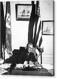 Franklin D. Roosevelt, 32nd American Acrylic Print by Omikron