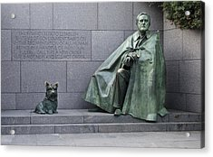 Franklin Delano Roosevelt Memorial - Washington Dc Acrylic Print by Brendan Reals