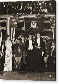 Franklin Roosevelt Inaugurated Acrylic Print by Everett