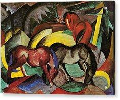 Franz Marc  Acrylic Print by Three Horses