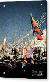 Free Tibet By Jrr Acrylic Print by First Star Art