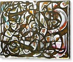 Freedom  012 Acrylic Print by Omar Sangiovanni