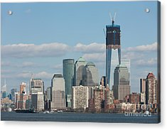 Freedom Tower And Manhattan Skyline II Acrylic Print by Clarence Holmes