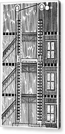 Freight Elevator, 1876 Acrylic Print by Granger