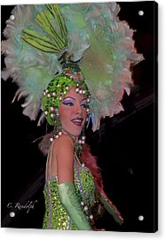 French Feathers Acrylic Print by Cheri Randolph