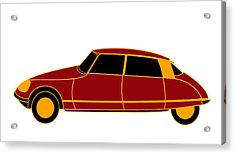French Iconic Car - Virtual Car Acrylic Print by Asbjorn Lonvig