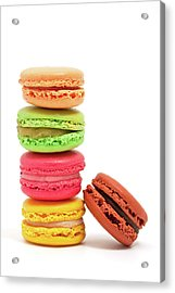 French Macaroons Acrylic Print by Ursula Alter