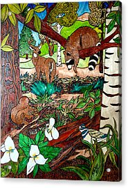 Frends Of The Forest Acrylic Print by Mike Holder