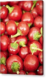 Fresh Cherry Peppers Acrylic Print by Cameron Davidson