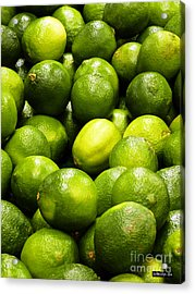 Fresh Limes Acrylic Print by Methune Hively