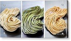 Fresh Tagliolini Pasta Acrylic Print by Elena Elisseeva
