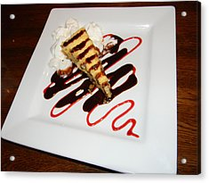 Fried Cheesecake Desert Acrylic Print by Warren Thompson