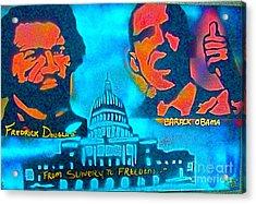 From Slavery To Freedom Acrylic Print by Tony B Conscious