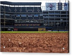 From The Dugout Acrylic Print by Malania Hammer