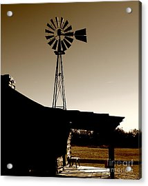 Frost On The Stoop Acrylic Print by Robert Frederick