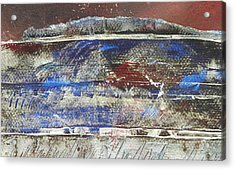 Frosted Landscape Acrylic Print by Adele Greenfield