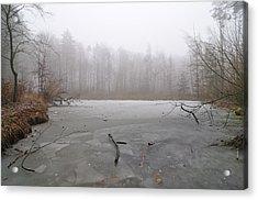 Frozen Lake In Winter Acrylic Print by Matthias Hauser