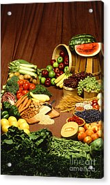 Fruit And Grain Food Group Acrylic Print by Photo Researchers