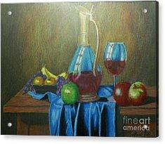 Fruity Still Life Acrylic Print by Mickael Bruce