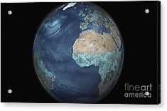 Full Earth Showing Evaporation Acrylic Print by Stocktrek Images
