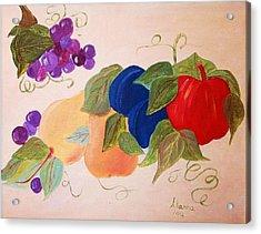 Fun Fruit Acrylic Print by Alanna Hug-McAnnally