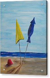 Funbrellas Plus One Acrylic Print by Wayne Miller