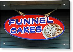 Funnel Cakes Acrylic Print by Skip Willits