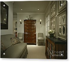 Furniture In Upscale Home Acrylic Print by Robert Pisano
